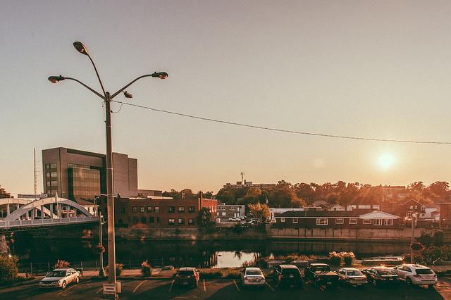 Parking in the Riverside Lot,  Downtown Belleville. Photo Adam Tilley.