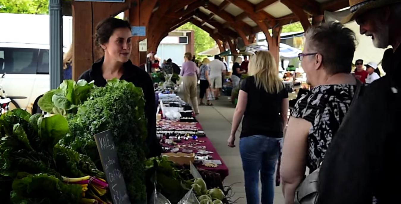 Downtown Belleville's farmer's market runs year round.