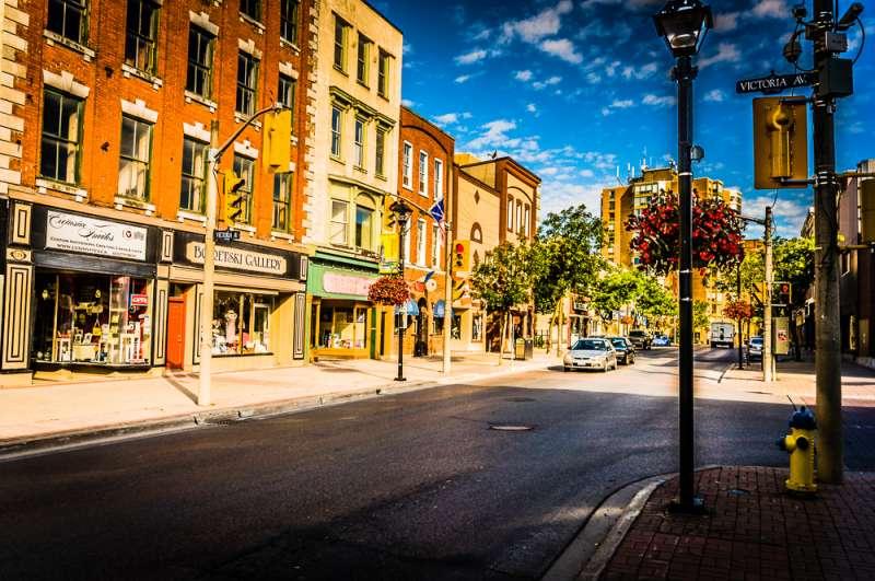 Downtown Belleville shops and galleries. Photo via City of Belleville.
