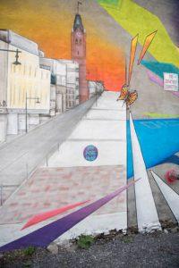 New Mural Downtown Belleville, Painted by Local Artist Chris Bennett