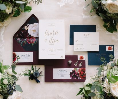 Amanda Silverplate Press Letterpress Wedding Invitations