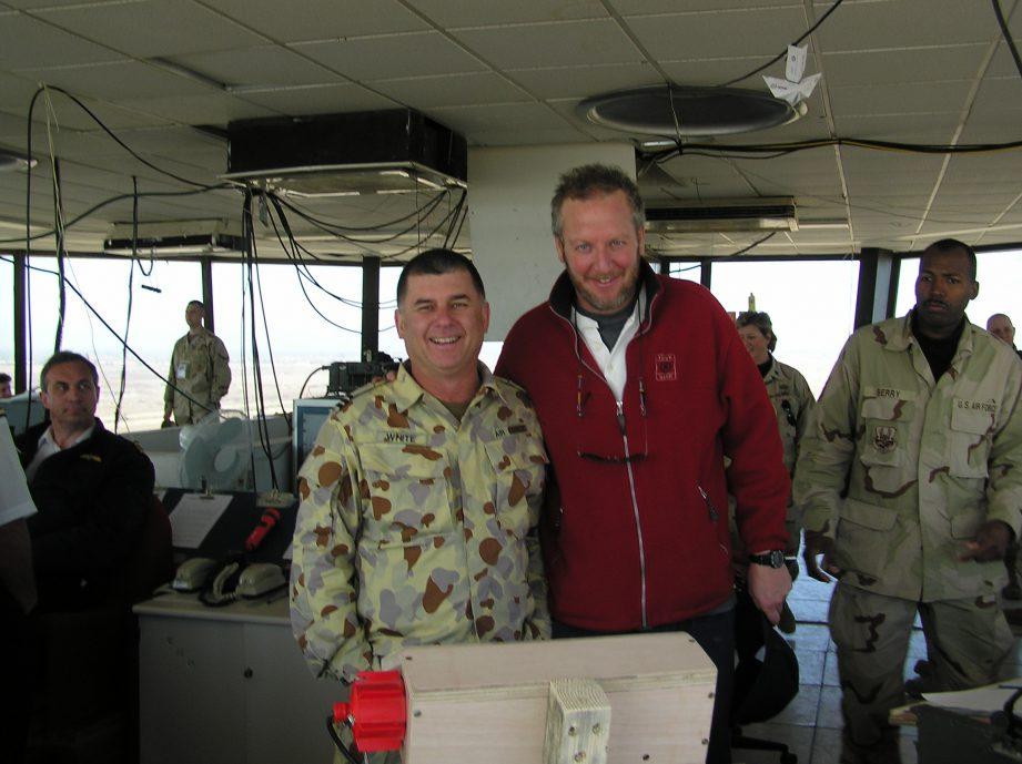 Mort White Military Veteran with Daniel Stern