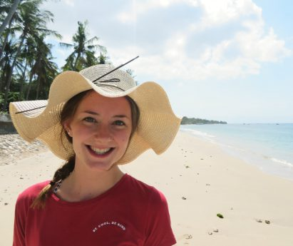 Lydia Siebenga, owner of Grow with the Flow Yoga in Belleville, on the beach.