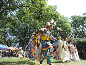 Traditional dancers at the Tyendinaga Pow Wow, Bay of Quinte