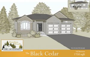 Black Cedar Homes Technical Drawing