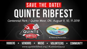 Poster for Quinte ribfest in Bay of Quinte