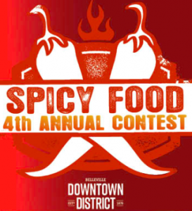 Poster for spicy food contest in Belleville, Bay of Quinte