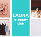A grid of photos relating to Laundry Club, a local thrifting business.
