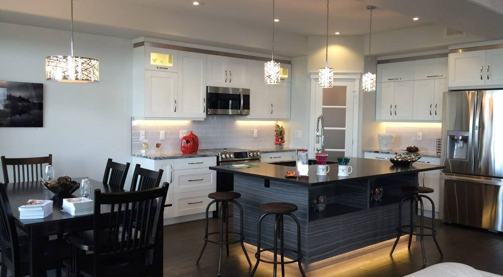 A kitchen in a home built by Duvanco Homes, part of the Quinte Home Builders' Association.