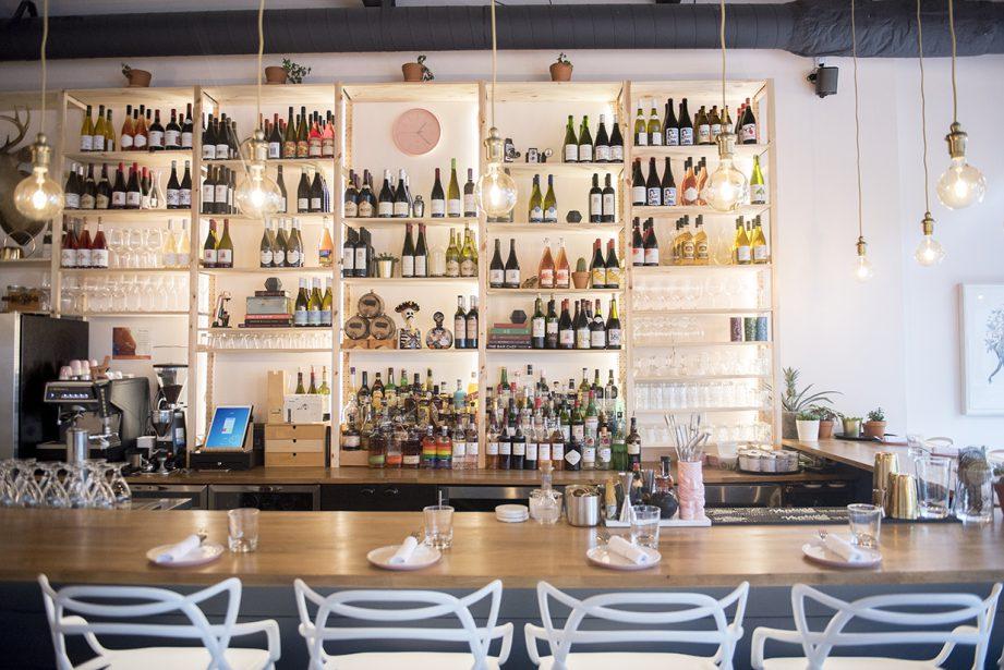A wine bar. The Lark Restaurant in downtown Belleville.