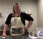 Corrie Wessels stands in her Dough Mama kitchen.