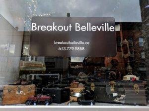 Breakout Belleville window sign