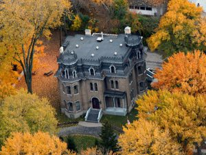 Aerial view of Glanmore National Historic Site Museum