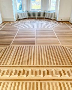 A restored wood floor in a renovated home, Crest View, in Belleville's old East Hill neighbourhood.