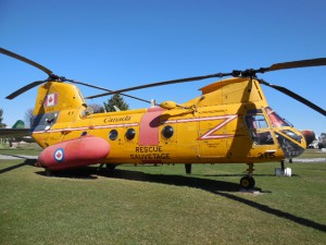 A Search & Rescue Helicopter at the National Air Force Museum of Canada
