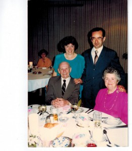 The Donini Family at the 50th wedding anniversary of Nello and Flora