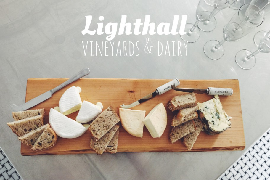 Lighthall Vineyards & Dairy sheep's milk cheeses. From L-R: Brie-style, chardonnay-washed, and blue.