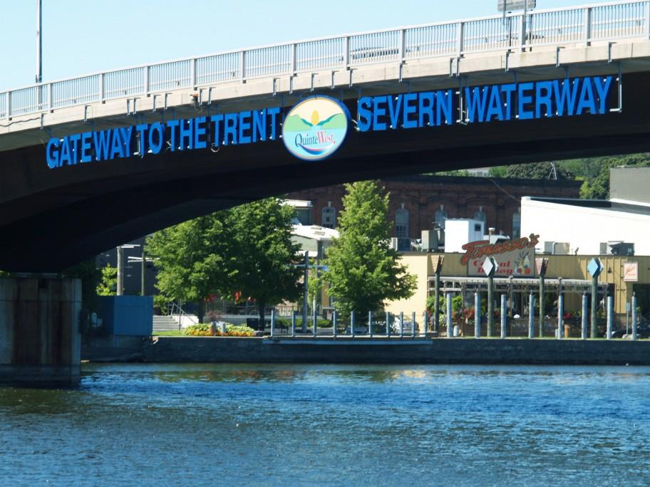 Trent Severn Bridge in Quinte West
