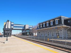 Belleville has a new VIA Rail Station built in 2012 alongside the original Grand Trunk Railway Station from 1856. Photo courtesy Roger Litwiller.