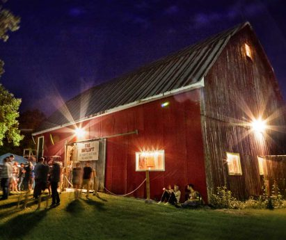 The Hayloft Dancehall at Night