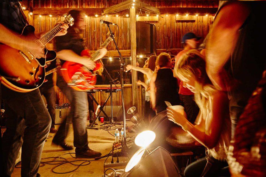 The Hayloft Dancehall at Night