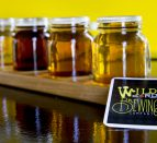 A flight of beer tastings at Wild Card Brewing Company in Quinte West Trenton
