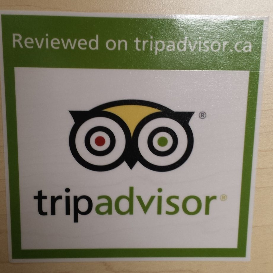 TripAdvisor stickers are available to order.