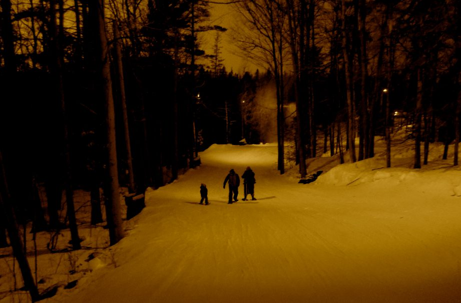 Go Active Ontario's Nightly Snowshoe Excursions near Trenton, Ontario.