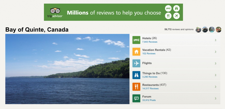 TripAdvisor in Bay of Quinte