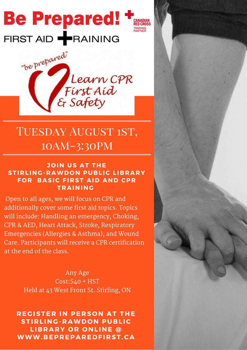 Cpr First Aid Training Bay Of Quinte Tourism