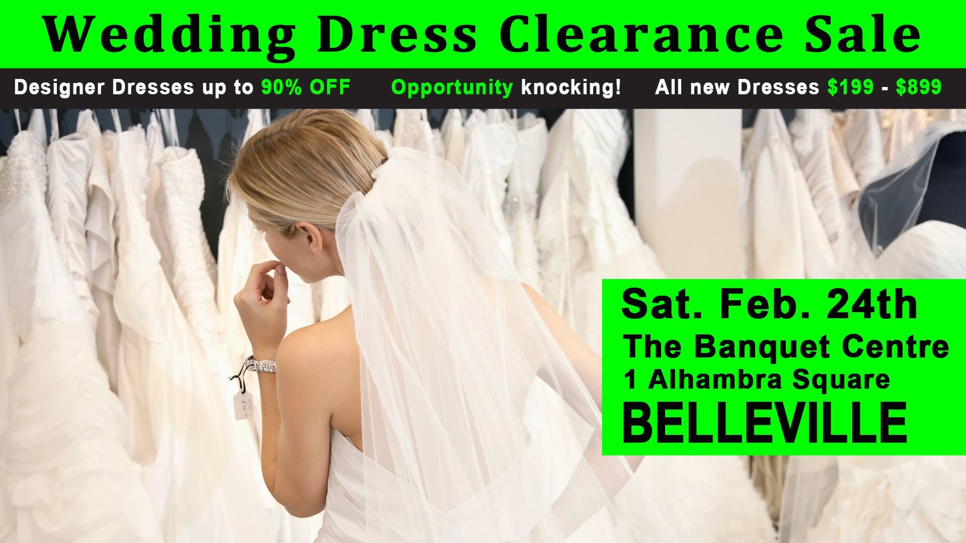 Pop Wedding Dress.Belleville Pop Up Wedding Dress Sale Bay Of Quinte Tourism