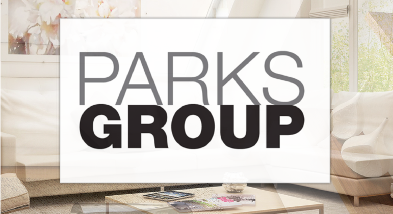 Parks Groups Royal LePage logo over top of an home interior who will be at the Quinte Home & Lifestyle Show.