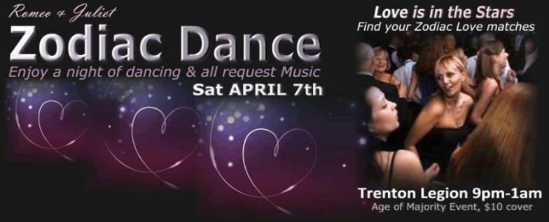 Romeo & Juliet Zodiac Singles Dance Party! - Bay of Quinte Tourism