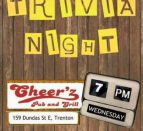 Trivia Cheerz Pub Quinte West