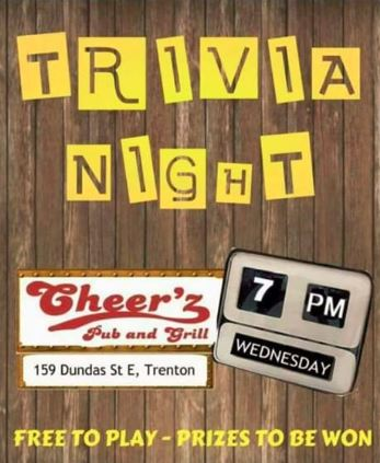Cheer'z Pub Trivia Quiz - Bay of Quinte Tourism