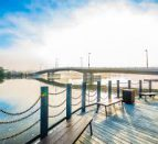 Trenton waterfront is perfect for an Insta-worthy photo.