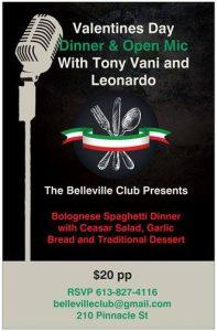 Valentine's Dinner at the Belleville Club