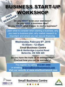 Small Business Centre Business Start Up Workshop