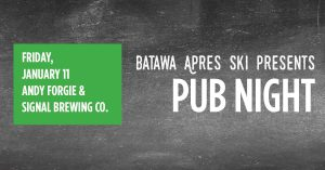 batawa apres ski pub night