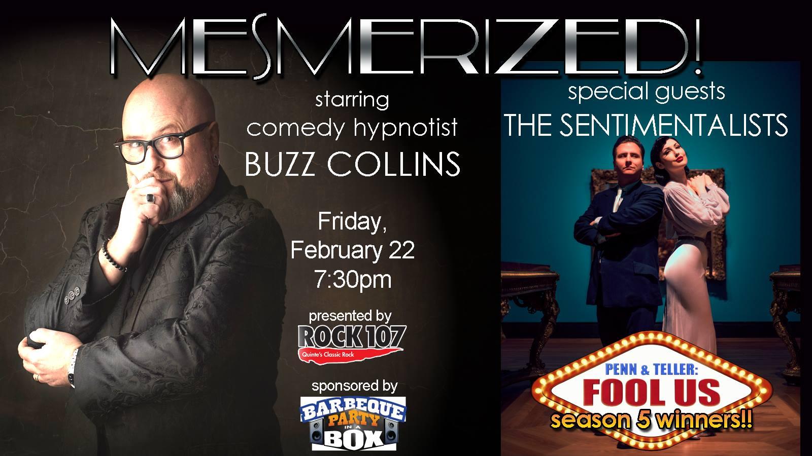 buzz collins mesmerized hypnosis show