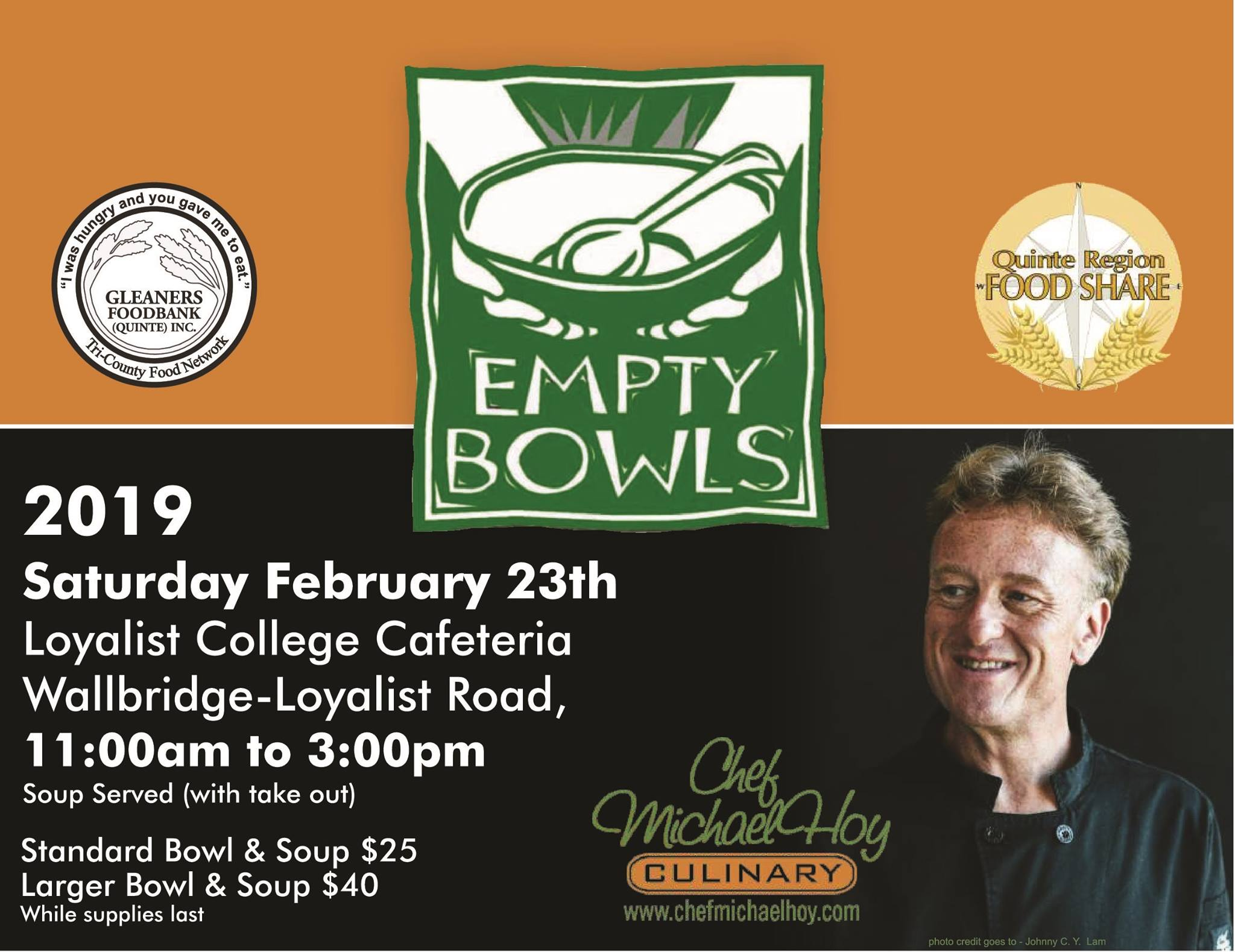 gleaners empty bowls fundraiser
