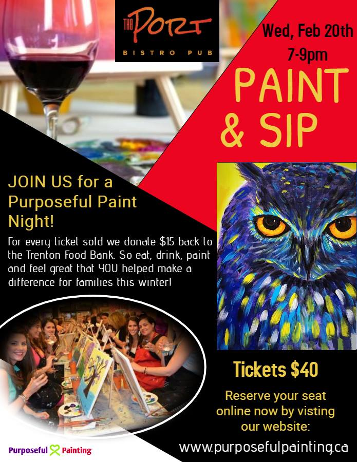 purposeful painting fundraiser