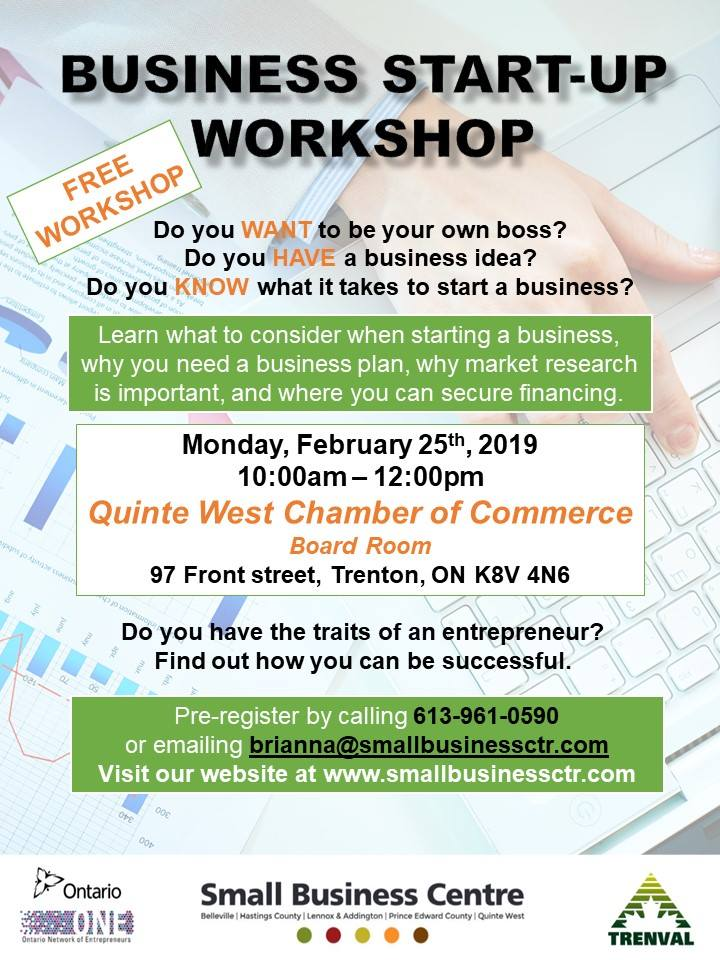 Small Business Centre Business-Start-Up-Workshop feb 25