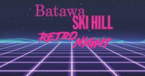 retro night batawa ski hill