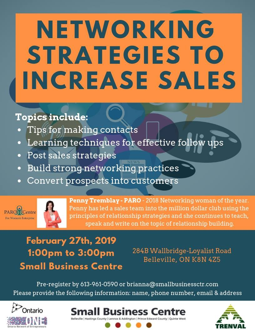 small business centre networking strategies workshop