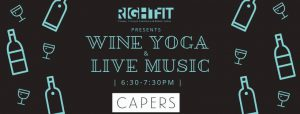 wine yoga music capers