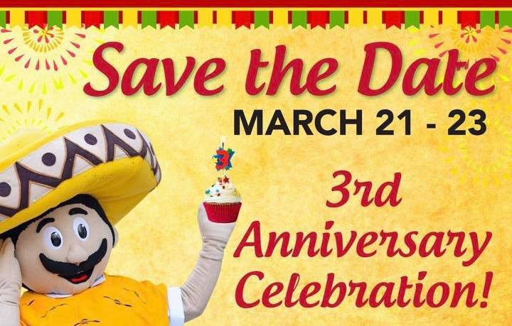 chilangos 3rd anniversary celebration