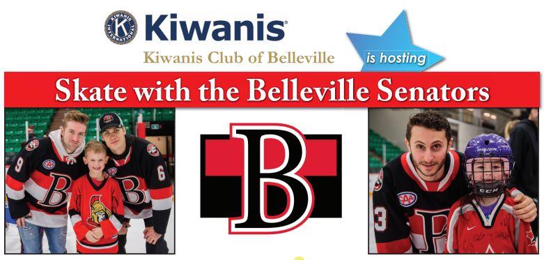 kiwanis skate with belleville senators