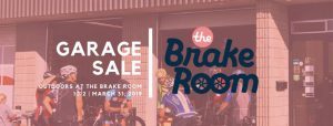 the brake room garage sale