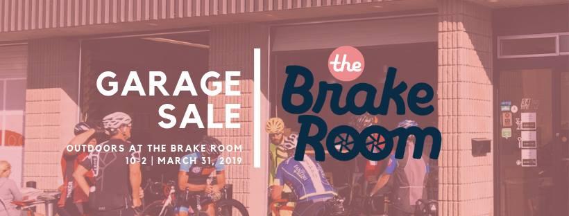 the brake room garage sale